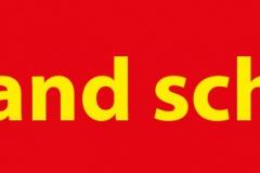Bodenaufkleber Abstandsstreifen Rot